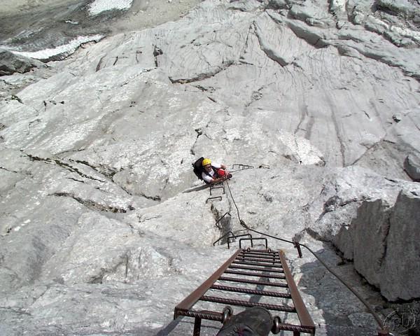Klettersteig Priel : Grosser priel klettersteig 23. 24.8.2001 093.jpg